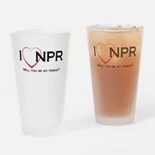 I Love NPR Drinking Glass