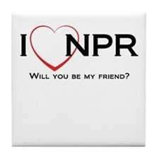 I Love NPR Tile Coaster