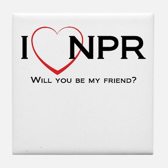 I Love NPR Tile Coaster