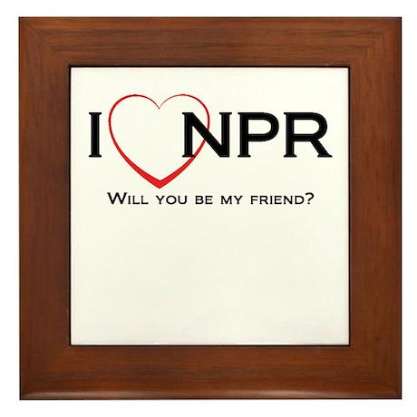 I Love NPR Framed Tile