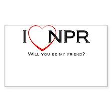I Love NPR Decal