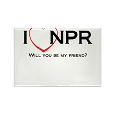 I Love NPR Rectangle Magnet