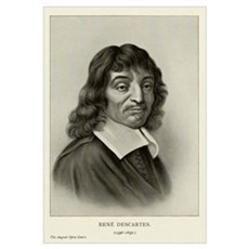 Rene Descartes, French mathematician Poster
