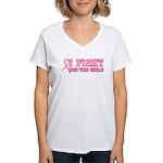 Fight for the Girls Women's V-Neck T-Shirt