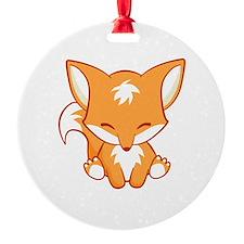 The Happy Fox Ornament