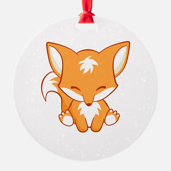 The Happy Fox Ornament
