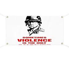 Sometimes Violence Banner