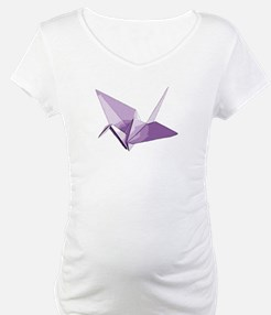 Lucky origami crane purple Shirt