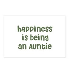 Happiness is being an Auntie Postcards (Package of
