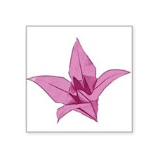 """Origami lily pink Square Sticker 3"""" x 3"""""""