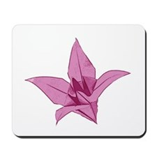 Origami lily pink Mousepad
