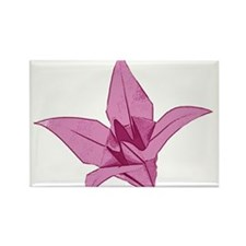 Origami lily pink Rectangle Magnet