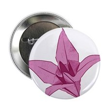 """Origami lily pink 2.25"""" Button"""