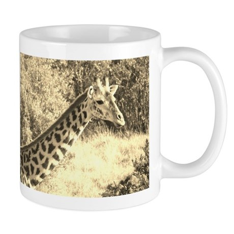sepia giraffe morning kenya collection Mug