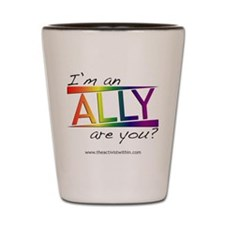 Straight Allies for Marriage Equality Shot Glass