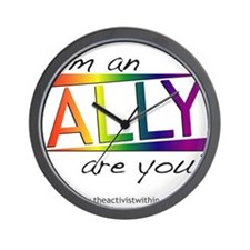 Straight Allies for Marriage Equality Wall Clock