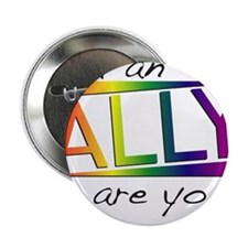 """Straight Allies for Marriage Equality 2.25"""" Button"""
