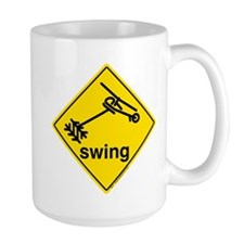 Helicopter Swing Caution Sign. Mug