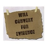 Will Convert For Evidence Throw Blanket