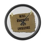 Will Convert For Evidence Large Wall Clock