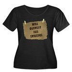 Will Convert For Evidence Women's Plus Size Scoop