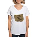 Will Convert For Evidence Women's V-Neck T-Shirt