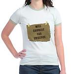 Will Convert For Evidence Jr. Ringer T-Shirt