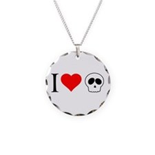 i heart skull Necklace