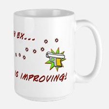 Still Miss My Ex...Aim is Improving Large Mug