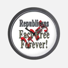 Republicans Fact Free Forever! Wall Clock