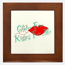 Gluten Free Kisses For Me Framed Tile