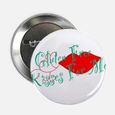 """Gluten Free Kisses For Me 2.25"""" Button"""