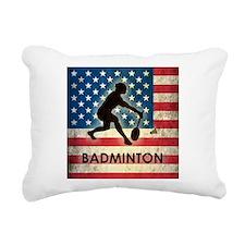 Grunge USA Badminton Rectangular Canvas Pillow