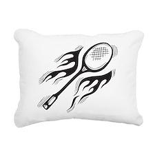 Flaming Badminton Rectangular Canvas Pillow
