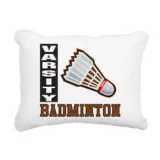 Badminton Varsity Rectangular Canvas Pillow