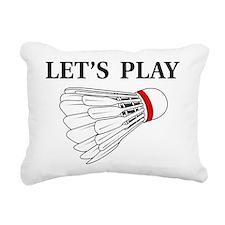 Let's Play Badminton Rectangular Canvas Pillow