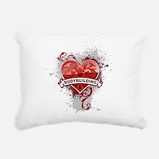 Heart Bodybuilding Rectangular Canvas Pillow