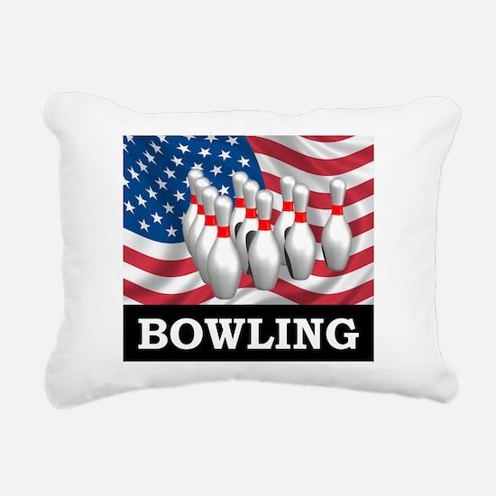 American Bowling Rectangular Canvas Pillow