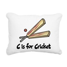 C is for Cricket Rectangular Canvas Pillow