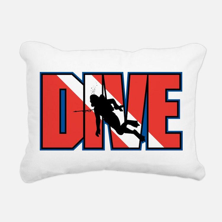 Diving Rectangular Canvas Pillow