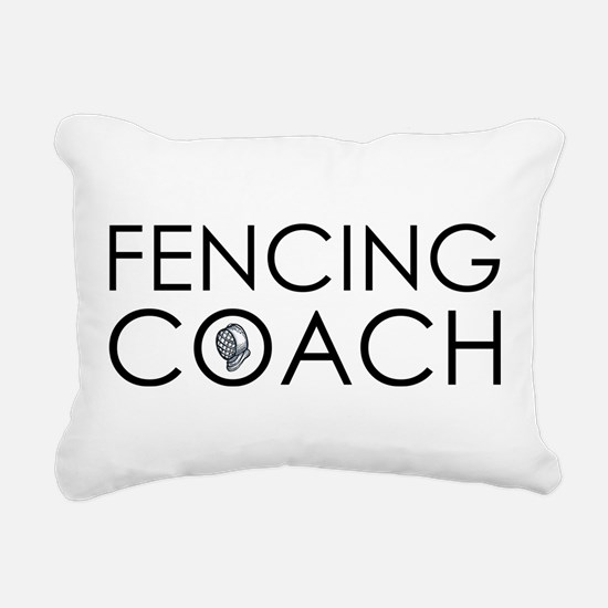 Fencing Coach Rectangular Canvas Pillow