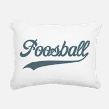 Retro Foosball Rectangular Canvas Pillow