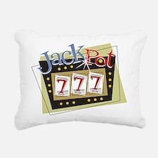 Jackpot 777 Rectangular Canvas Pillow