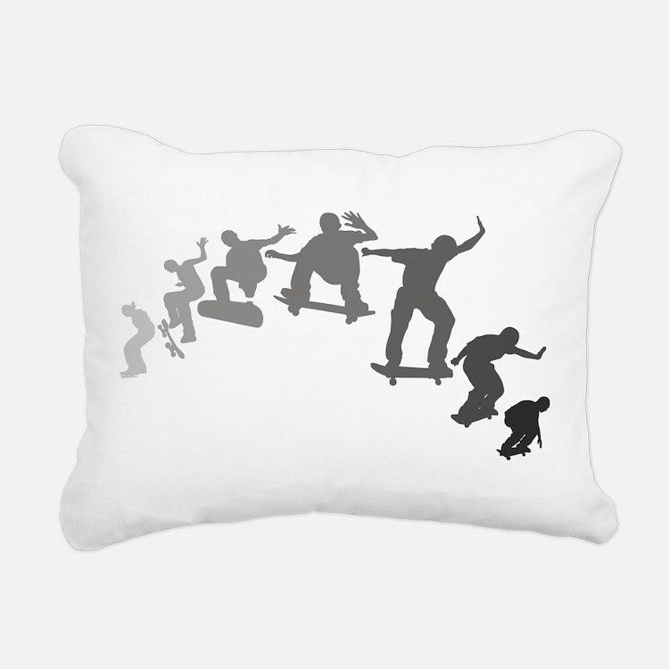 Skateboarding Rectangular Canvas Pillow