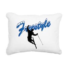 Freestyle Skiing Rectangular Canvas Pillow