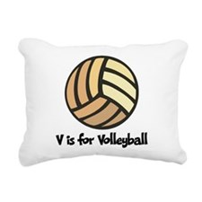 V is for Volleyball Rectangular Canvas Pillow