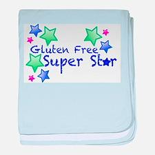 Gluten Free Super Star baby blanket