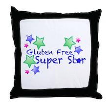 Gluten Free Super Star Throw Pillow