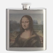 Mona Lisa Painting / Portrait Flask