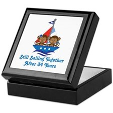 34th Anniversary Sailing Keepsake Box